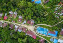 Desa Dulumai dari udara. Desa Dulumai merupakan salah satu desa yang terletak jauh dari keramaian kota. Foto : Mosintuwu/Ray